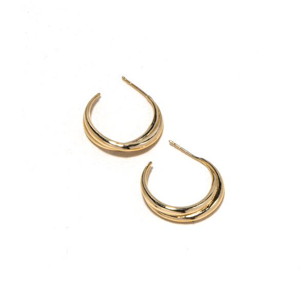 Mini lune gold plated earrings