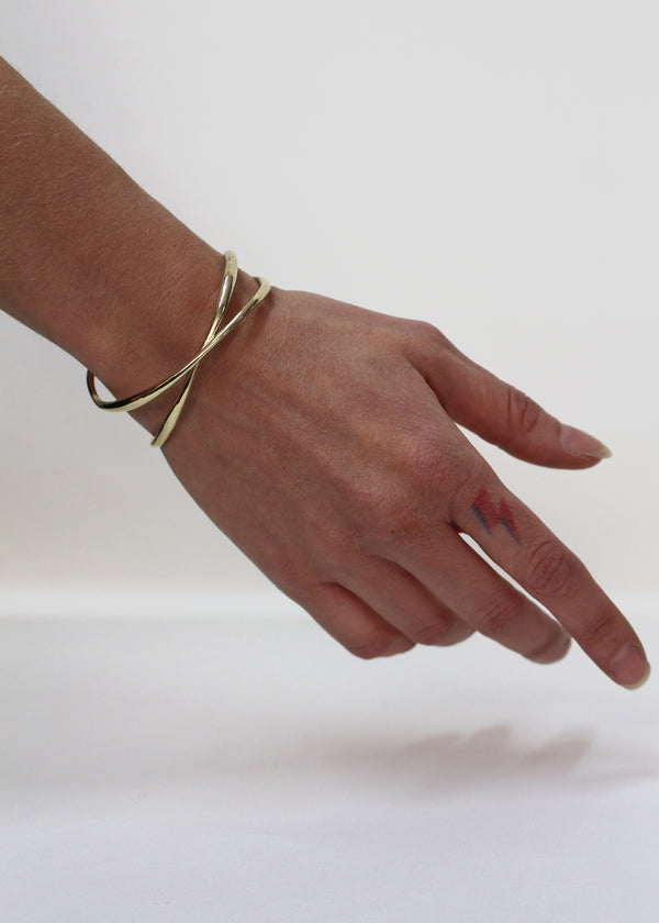 Infinity cuff bracelet gold plated