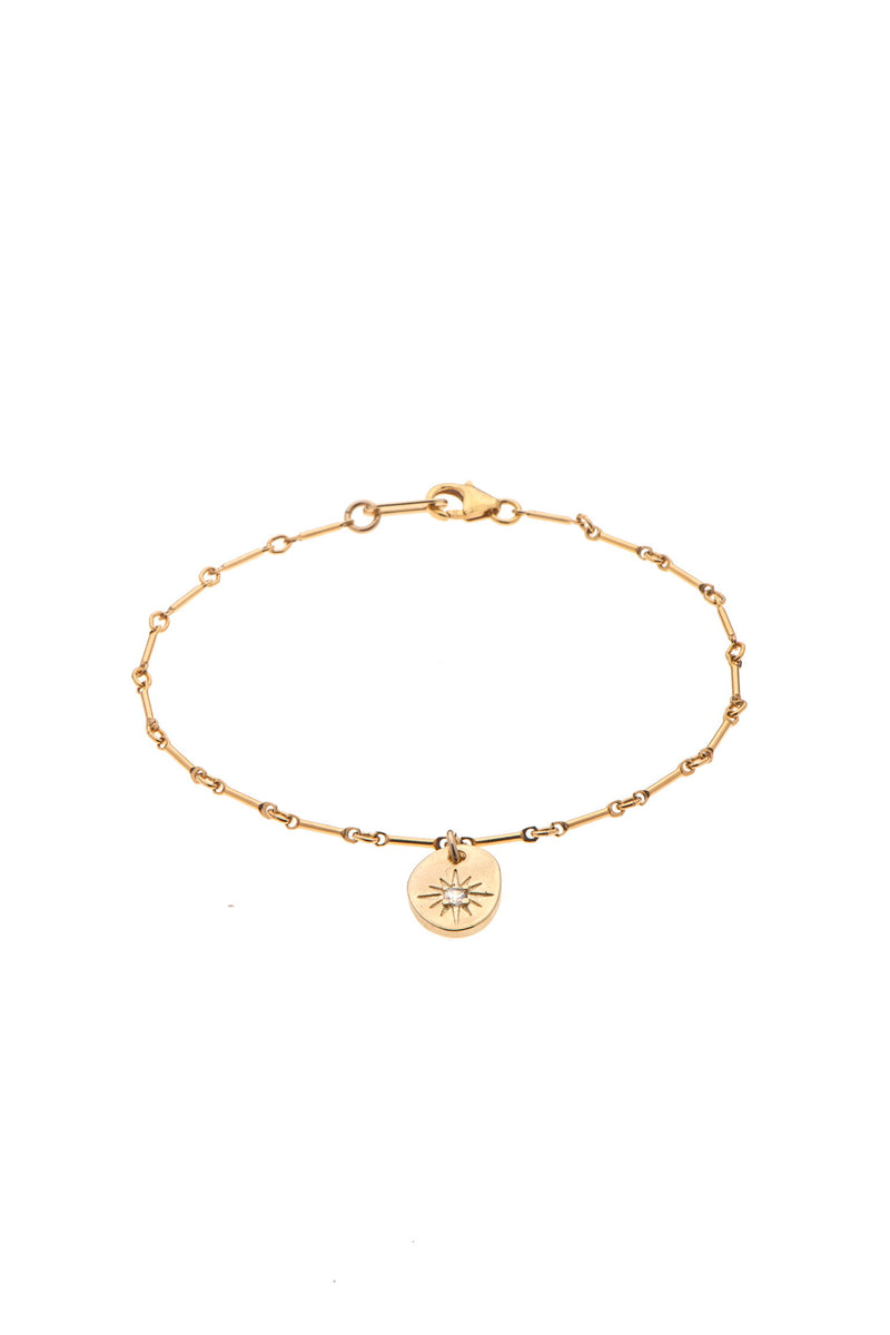 gold plated bracelet with coin - Goldy jewelry store