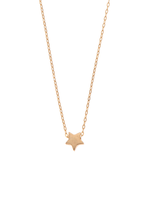 Star gold plated necklace - Goldy jewelry store