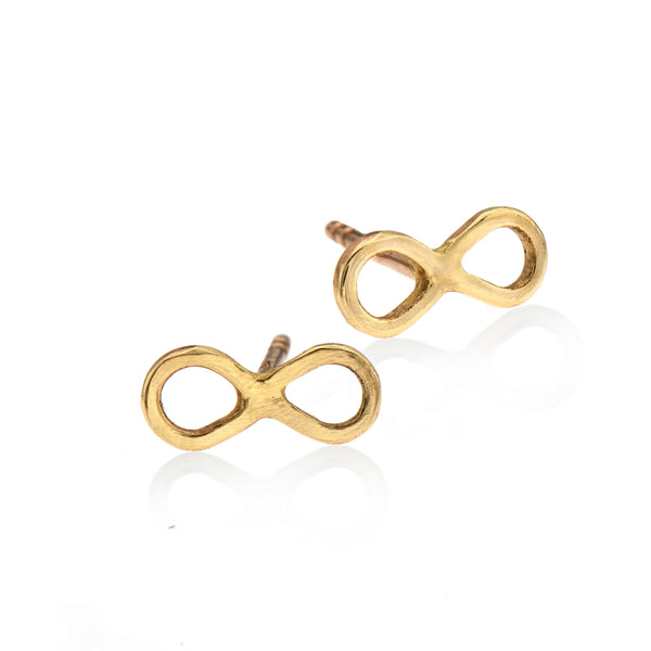 EF 14k gold infinity earrings - Goldy jewelry store