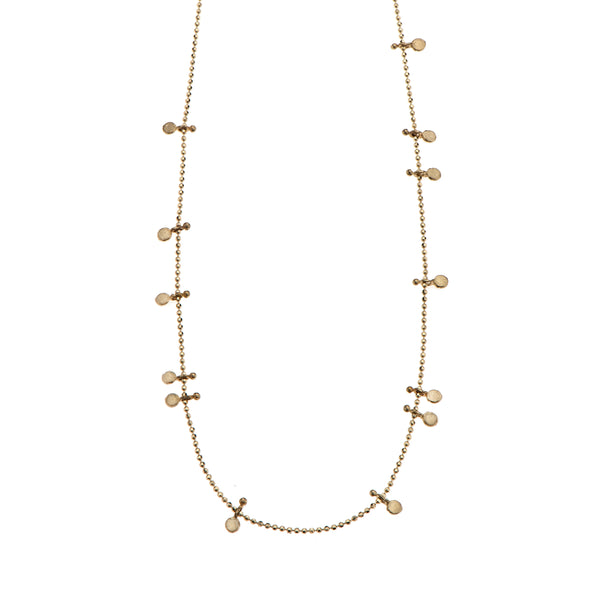 14K Short necklace with gold elements - Goldy jewelry store