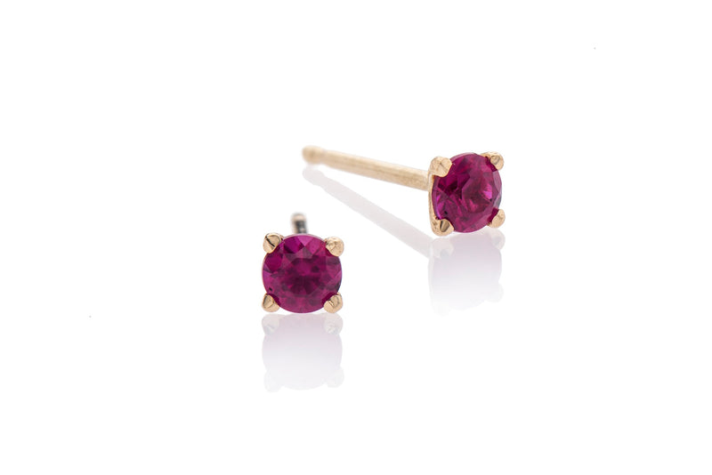 EF 14k gold with ruby earrings