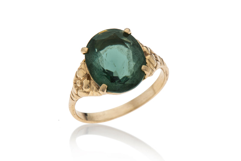 14K gold vintage ring with stone