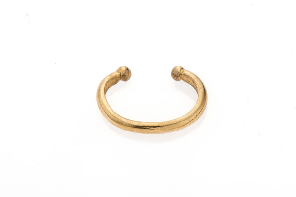 14k gold embracing earring