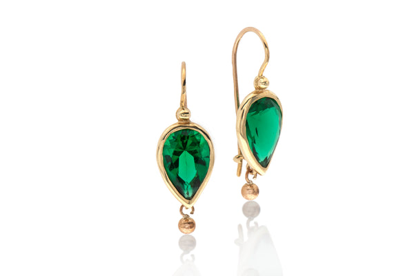14k Gold drop Earring
