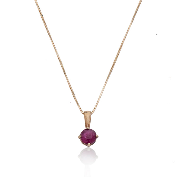 14K GOLD necklace with stone