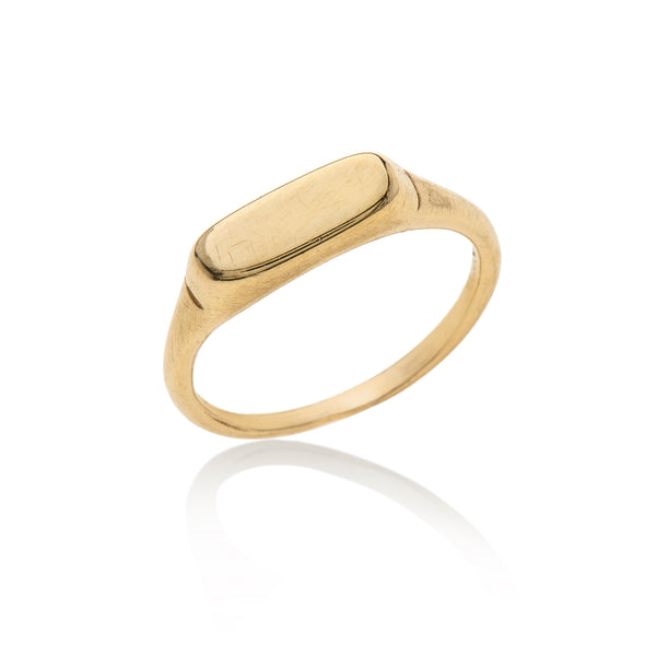 14k gold rectangle ring