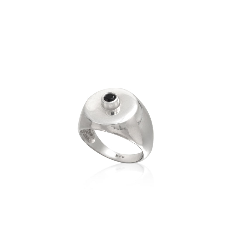 MONK CENTER silver ring - Goldy jewelry store