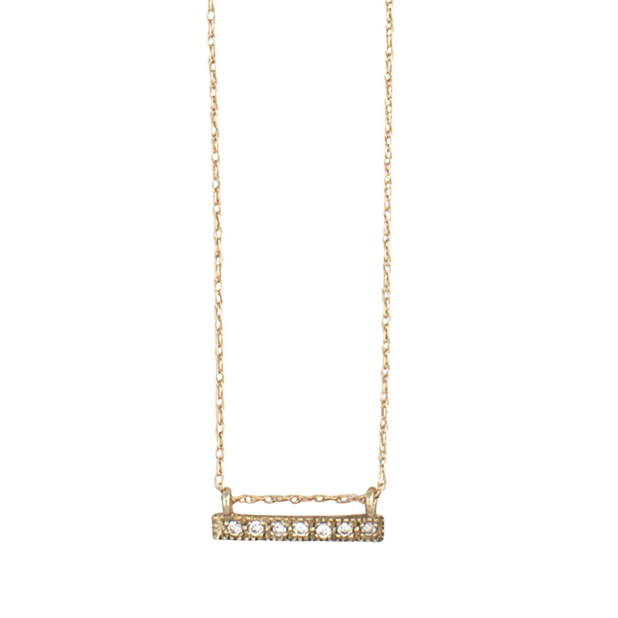 14K gold necklace with diamonds pendant