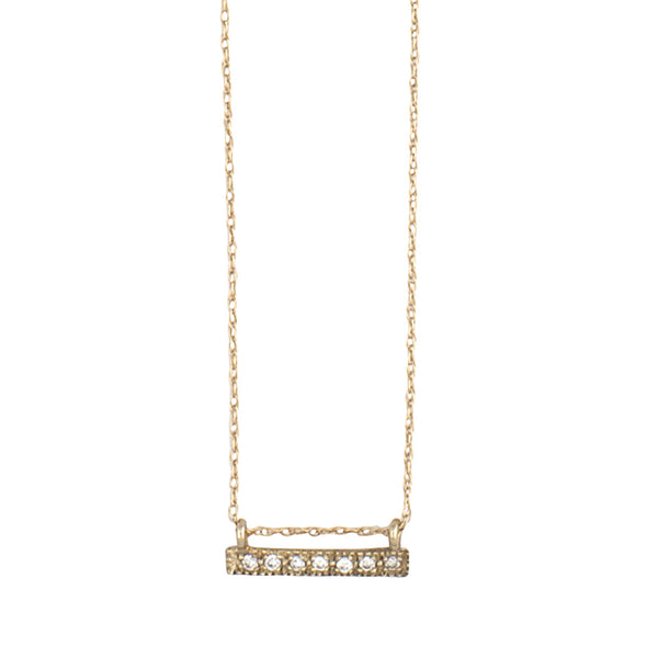 14K GOLD necklace with diamonds pendant - Goldy jewelry store
