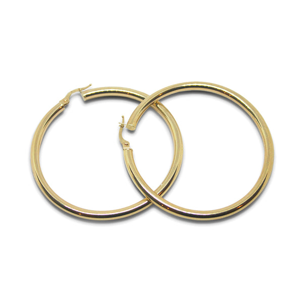 14k gold Gold L Hoop - Goldy jewelry store