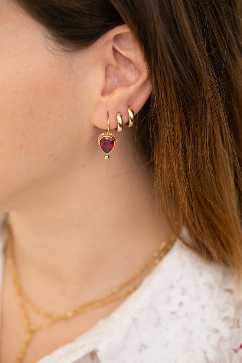 14k Gold Ruby Earring - Goldy jewelry store