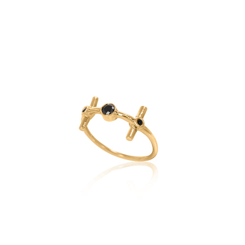 NUN gold plated Ring
