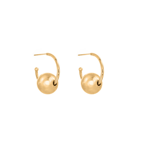 VENUS gold plated 14mm Earrings - Goldy jewelry store