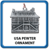 USA Made Pewter Ornaments