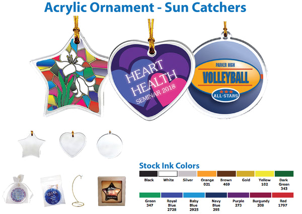ACRYLIC ORNAMENT SUN CATCHERS