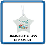 Hammered Glass Ornaments