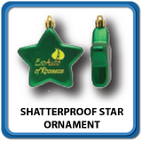 Shatterproof Star Ornaments