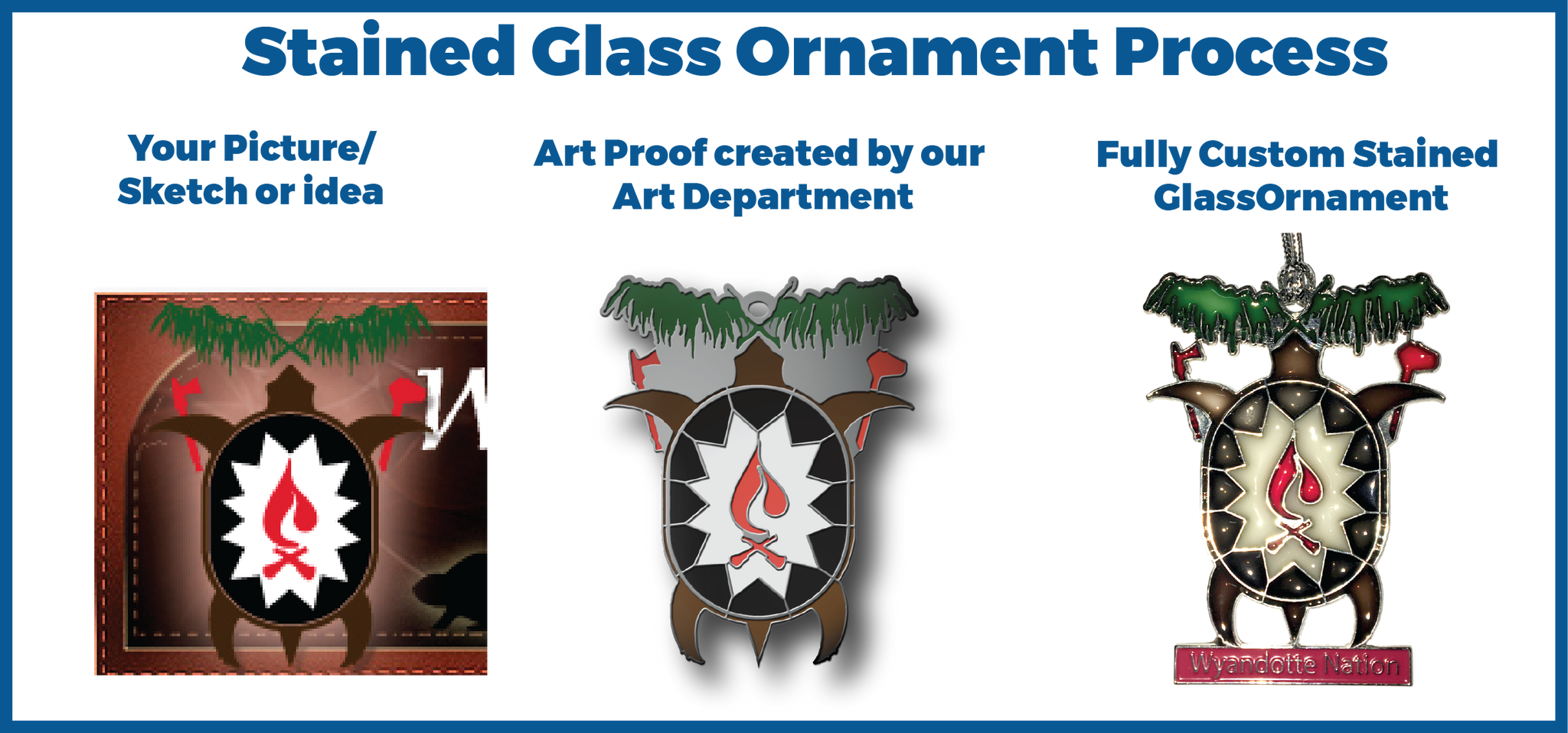 Stained Glass Ornament Process