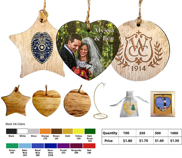 Stock Wood Ornaments