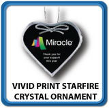 Vivid Pint Starfire Crystal Ornaments