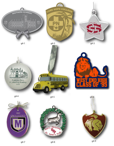 School Ornaments - Steelberry Ornaments