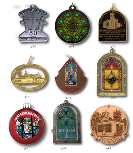 Church Ornaments - Steelberry Ornaments