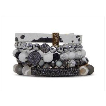 Sale ! Blackout Bracelet Set - Glamco Boutique