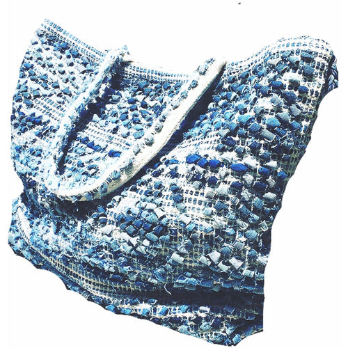 Sale ! Was $110.00  La Jolla Tote, Denim/Natural by Lovestitch - Glamco Boutique
