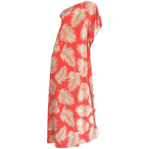 Abstract Leaf Kaftan Dress