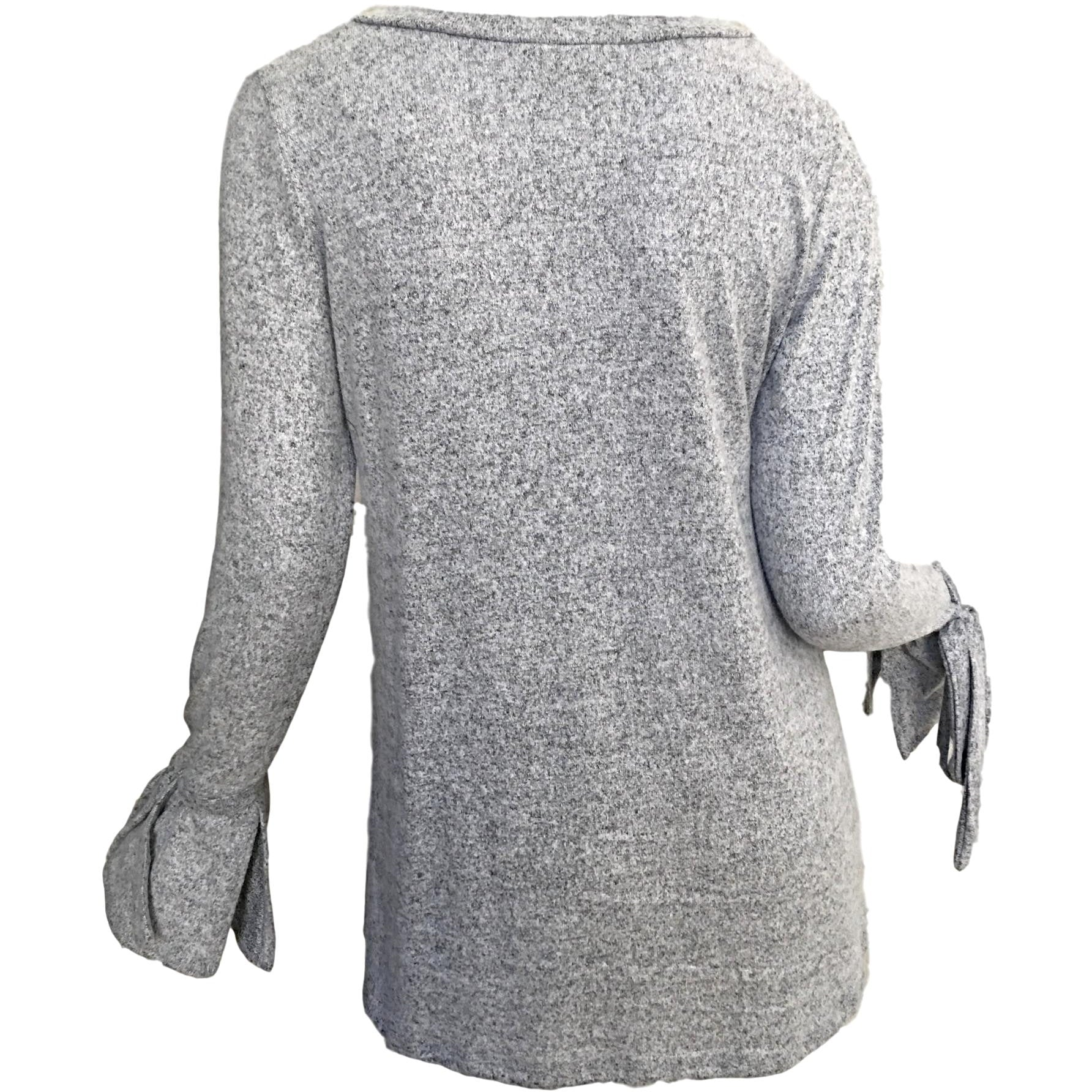 SALE ! Bow Sleeve V-Neck Jersey Top - Glamco Boutique