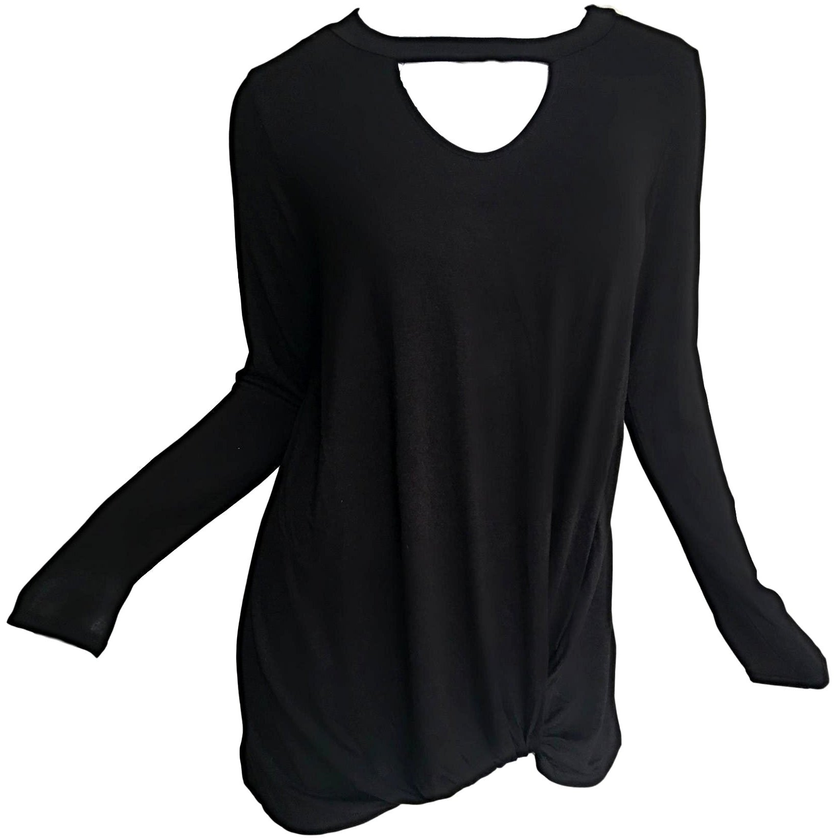 Lisa-Key-Hole-Knit-Top-Black