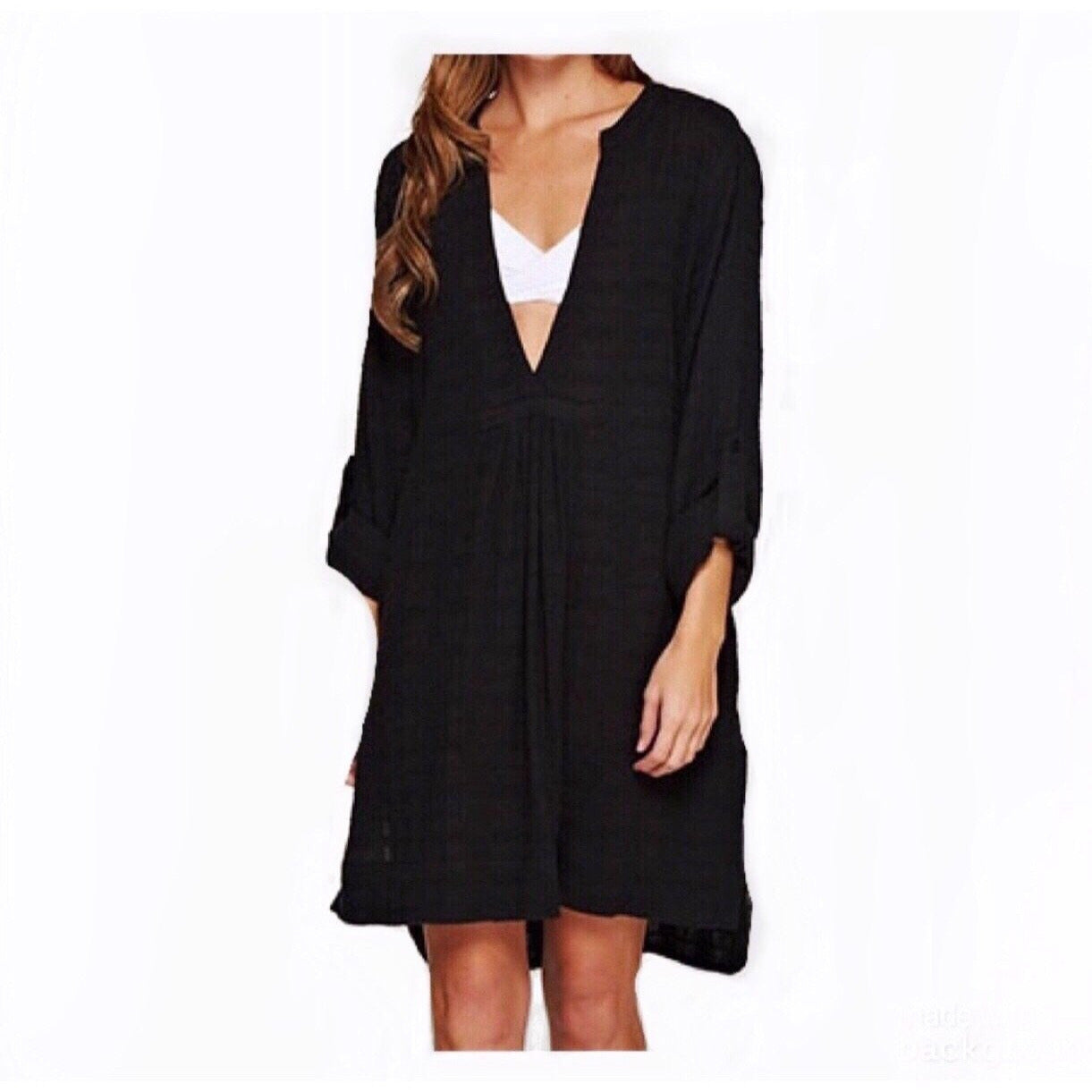 SALE ! Lindsey Cotton Gauze Cover Up Dress by Lovestitch - Glamco Boutique