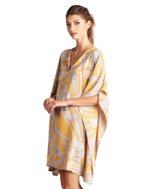 SALE ! Abstract Leaf Kaftan Dress - Glamco Boutique