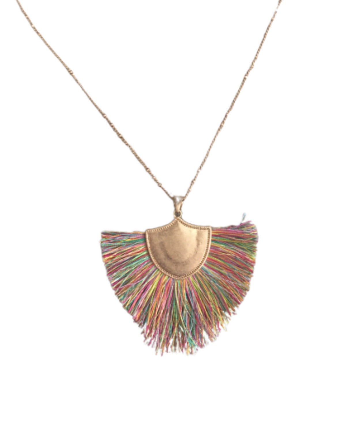 New ! Gia Fringe Statement Necklace - Glamco Boutique
