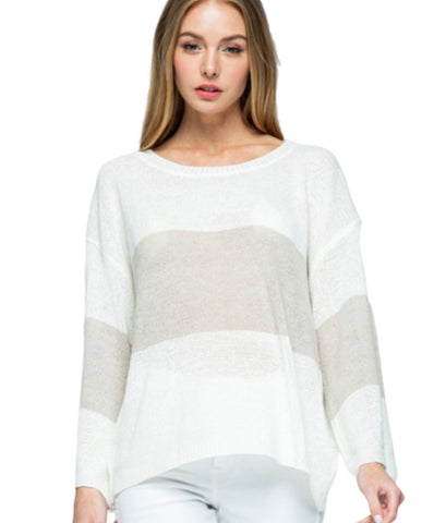 New ! Elsie Thermal Eyelit Sleeve Top