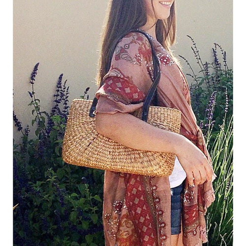 Sale ! Aerin Seagrass Shoulder Bag by Sea & Grass - Glamco Boutique