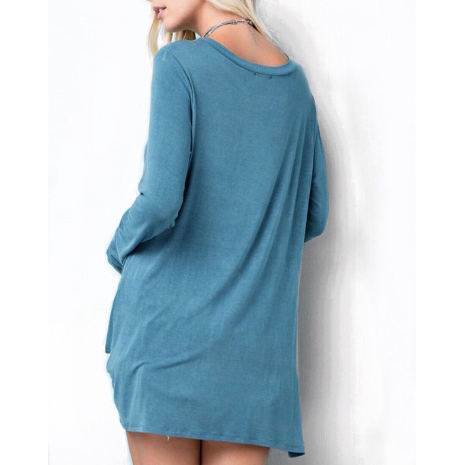 Dylan Knotted Pullover Top, Sea Blue
