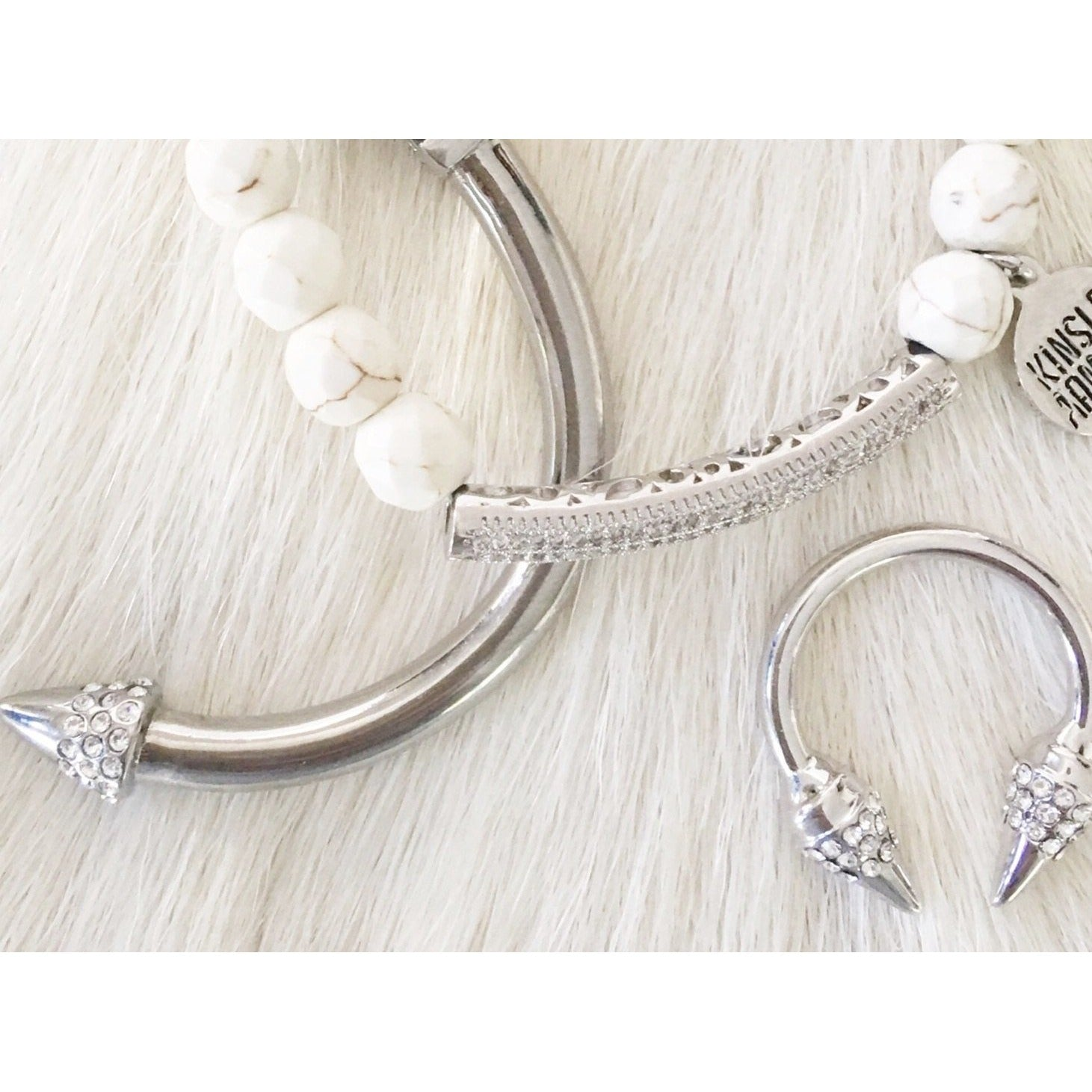 Spike Collection Silver Bling Bracelet - Glamco Boutique