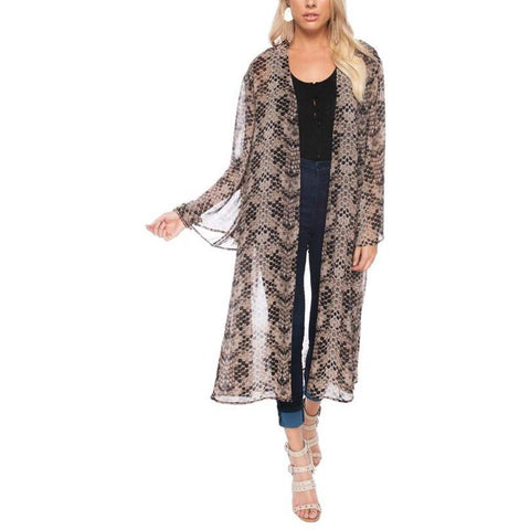 New ! Chaz Leopard Knit Cardigan