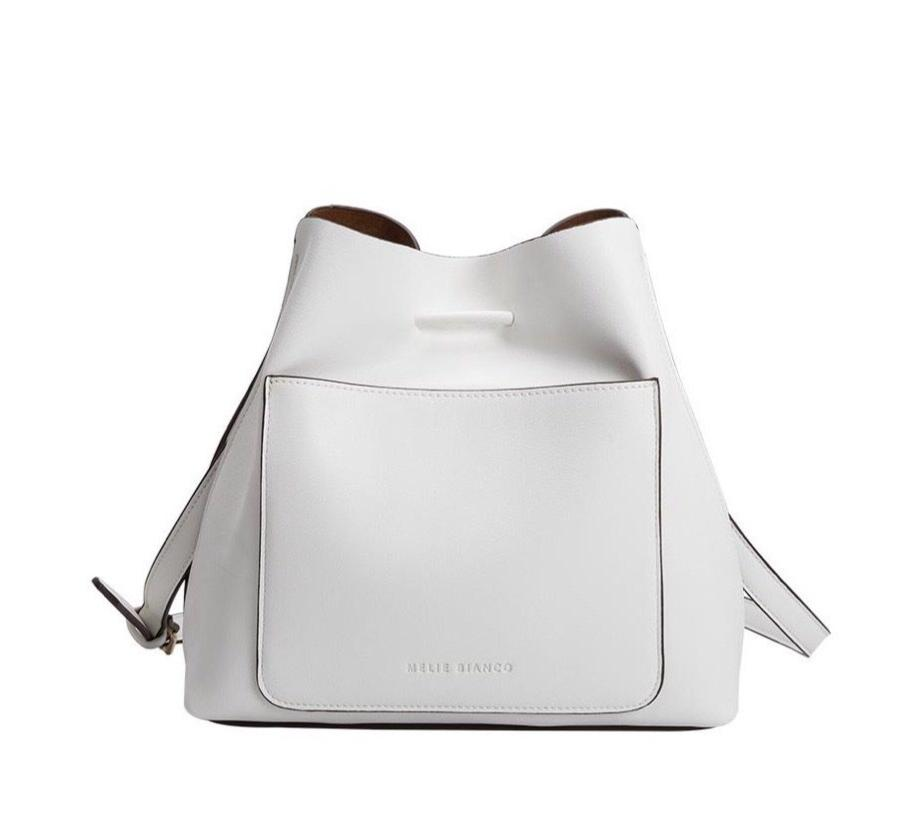 New ! Leia White Shoulder Bag by Melie Bianco - Glamco Boutique