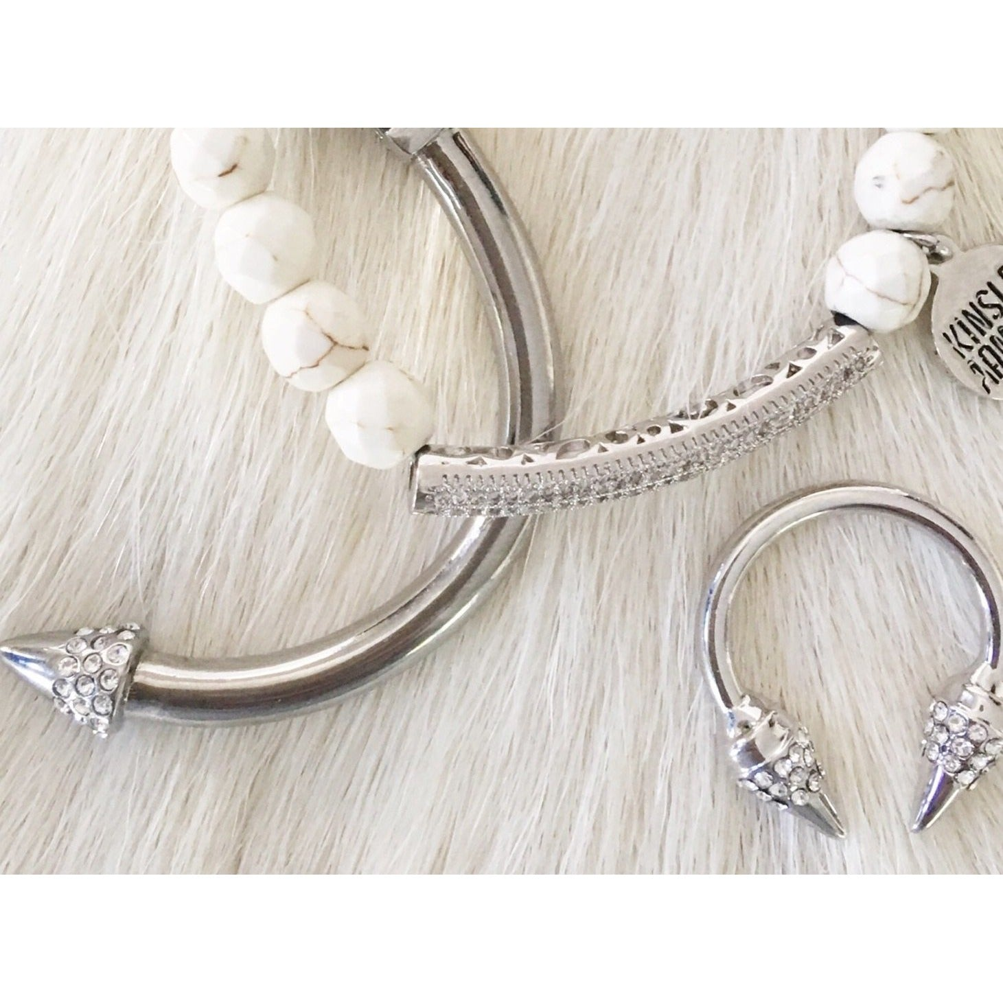 Glitz-Collection-Silver-Khaki-Bracelet