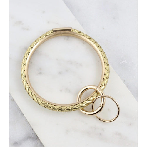 Dina Gold Braided Bracelet Style O Key Ring - Glamco Boutique