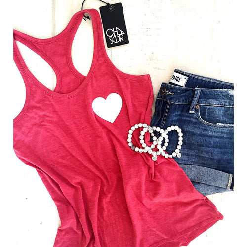 Sold Out  Heart Pocket T-Shirt Top by Chaser - Glamco Boutique