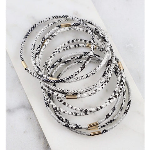 Sale ! Gold + Silver Mix Cuff Bracelet Stack