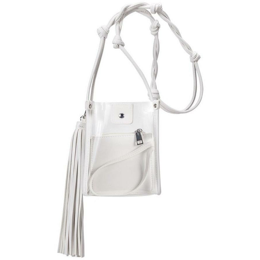 New  ! Kristy Clear White Bag by Melie Bianco
