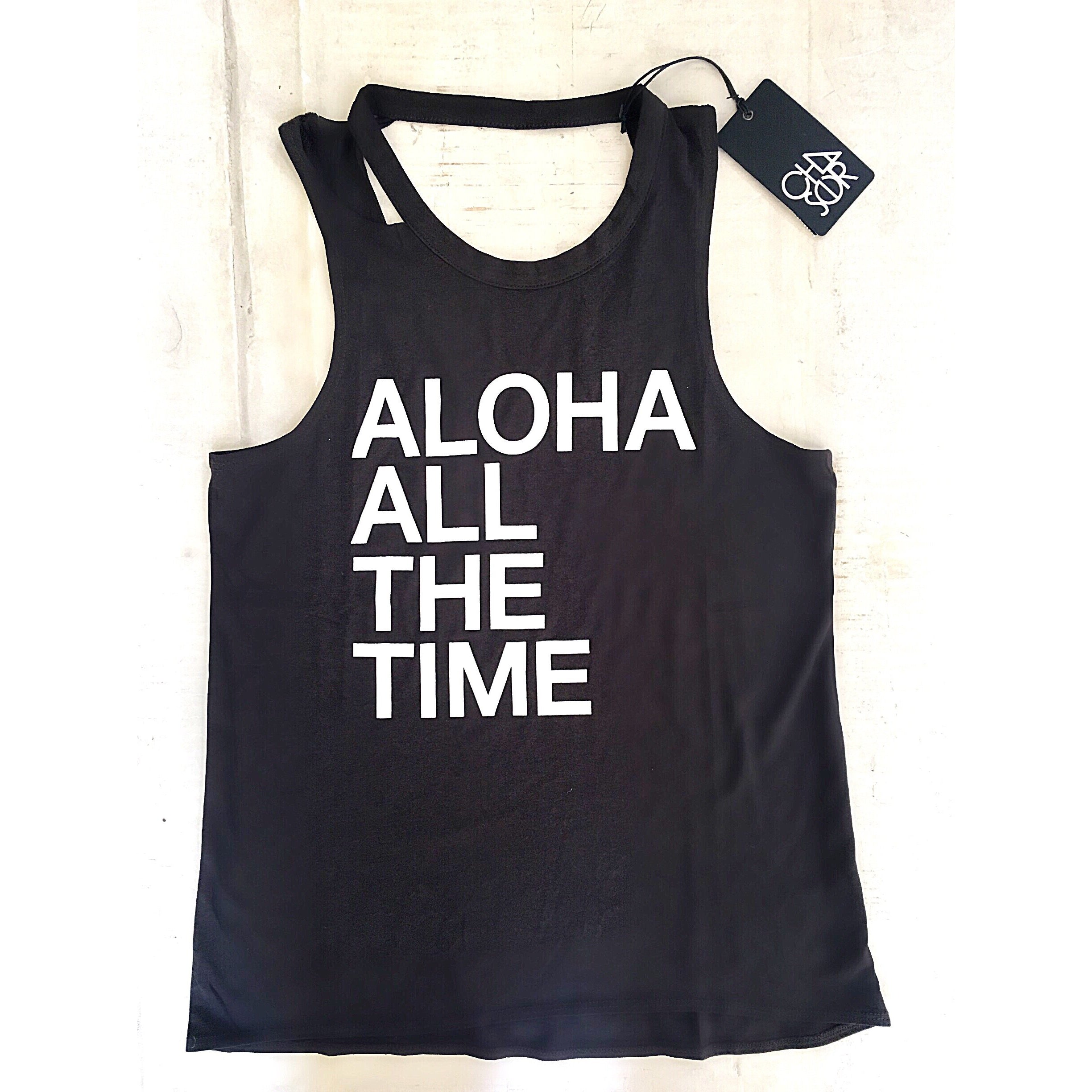SALE ! Aloha All The Time T-Shirt Top by Chaser - Glamco Boutique