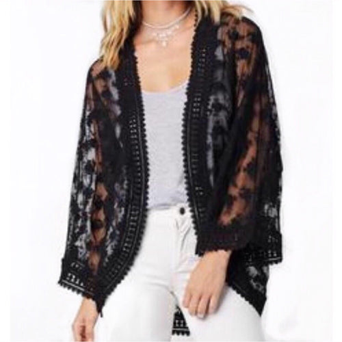 SALE ! Juno All Over Lace Kimono by Lovestitch - Glamco Boutique