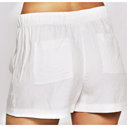 Zahara Shorts in Just A Little Off White by Lovestitch - Glamco Boutique